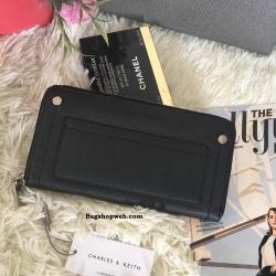 กระเป๋าเงิน Charles & Keith Long Wallet ราคา 990 บาท Free Ems