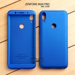 เคส Zenfone Max Pro M1 (ZB602KL) เคสแข็ง 3 ส่วน ครอบคลุม 360 องศา (สีน้ำเงิน - น้ำเงิน)