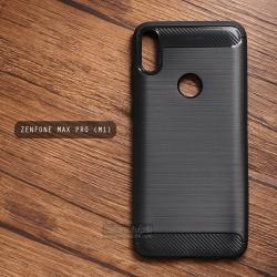 เคส Zenfone Max Pro เคสนิ่มเกรดพรีเมี่ยม (Texture ลายโลหะขัด) กันลื่น ลดรอยนิ้วมือ สีดำ
