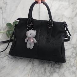 KEEP Parish hand bag with cute taddy 2017 Lady Black