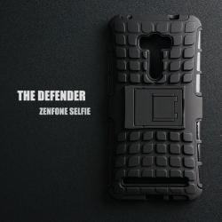 เคส ZenFone Selfie (ZD551KL) เคสบั๊มเปอร์ กันกระแทก Defender สีดำ (มีขาตั้ง)
