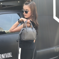 กระเป๋า Amory Leather Bag Mini Bowling Dark Grey Limited Edittion