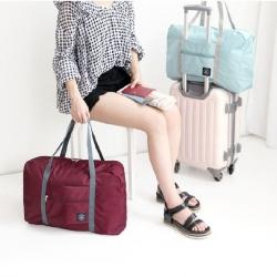 Wind Blows กระเป๋าเดินทางพับเก็บได้ เสียบที่จับกระเป๋าเดินทางได้ มีซิปรูดตอนพับเก็บ สำหรับการเดินทาง ท่องเที่ยว