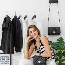 KEEP Spell Flat Bag Two Size (( mini size )) สีดำ