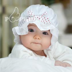 HT012••หมวกเด็ก•• / หมวกองค์หญิงน้อยสีขาว