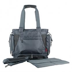 Ecosusi กระเป๋าสัมภาระคุณแม่ สะพายได้ แถมผ้ารองเปลี่ยนผ้าอ้อม ผลิตจากไนล่อนคุณภาพสูง ทนทาน ช่องใส่ของเยอะ (สีเทา)