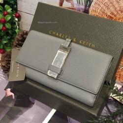 กระเป๋าสตางค์ CHARLESKEITH METAL CLASP WALLET สีเทา ราคา 1,190 บาท Free Ems