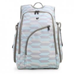 Ecosusi กระเป๋าสัมภาระคุณแม่ แบบเป้ มาพร้อมแผ่นรองเปลี่ยนผ้าอ้อม, สายคล้องรถเข็น, ช่องเก็บความร้อน-เย็น (Light Blue)