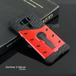 เคส Zenfone 3 Deluxe (ZS570KL) กรอบบั๊มเปอร์กันกระแทก (Defender 2 Tone) สีแดง-ดำ