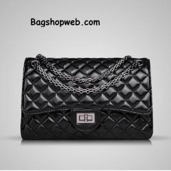 กระเป๋า ZARA chain shoulder bag like chanel ดีไซน์สวยลายตาราง น้ำหนักเบา สายสะพายเป็นโลหะถักลายโซ่ทั้งเส้นเพื่อความแข็งแรง