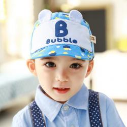 HT365••หมวกเด็ก•• / หมวกแก็ป Bubble (ปีกสีน้ำเงิน)