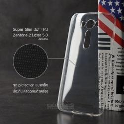 เคส Zenfone 2 Laser (5 นิ้ว) | เคสนิ่ม Super Slim TPU บางพิเศษ พร้อมจุด Pixel ขนาดเล็กด้านในเคสป้องกันเคสติดกับตัวเครื่อง (ใส)
