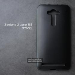 เคส Zenfone 2 Laser (5.5 นิ้ว) เคสนิ่ม คุณภาพ พรีเมียม ลายหนัง สีดำ (Classic)