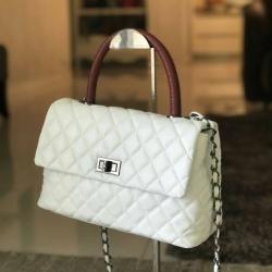 "Premium Caviar 10.5"" Genuine Sheep Leather Handbag 2017"