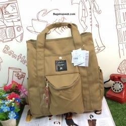 กระเป๋า Anello polyester canvas Tote style rucksack รุ่นใหม่ เบอร์ 4