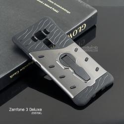 เคส Zenfone 3 Deluxe (ZS570KL) กรอบบั๊มเปอร์กันกระแทก (Defender 2 Tone) สีเทา-ดำ