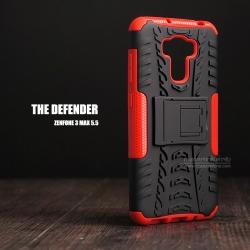 """เคส Zenfone 3 Max 5.5"""" (ZC553KL) เคสบั๊มเปอร์ กันกระแทก Defender สีแดง"""