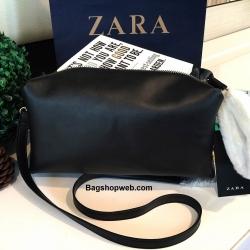 กระเป่า Zara Strap Detail Cluth Bag 2016 กระเป๋าสะพายหนังแกะสังเคราะห์แบบเรียบหนังนิ่มสวยรุ่นใหม่ล่าสุดชนช็อป