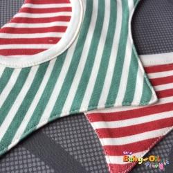 ผ้าซับน้ำลายเด็ก ผ้ากันเปื้อนเด็กเล็ก แบบ 360 องศา ปลายแฉก / ลายขวาง (มี 2 สี)