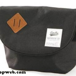 กระเป๋า ANELLO POLYESTER CANVAS SHOULDER BAG สีดำ