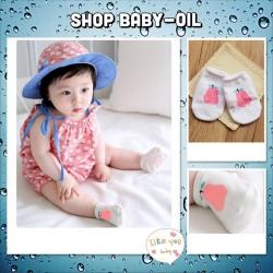 SK017••ถุงเท้าเด็ก•• ลูกแพร์ (สีชมพู-ข้อสั้น)