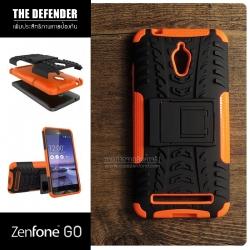 เคส Zenfone GO (ZC500TG) กรอบบั๊มเปอร์ กันกระแทก Defender สีส้ม (เป็นขาตั้งได้)