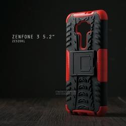 เคส Zenfone 3 ( ZE520KL ) กรอบบั๊มเปอร์ กันกระแทก Defender สีแดง (เป็นขาตั้งได้)