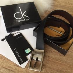 เข็มขัดผู้ชาย Calvin Klein Genuine Leather Belt Box Set หนังแท้ Outlet