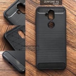 เคส Zenfone 5Q (ZC600KL) เคสนิ่มเกรดพรีเมี่ยม (Texture ลายโลหะขัด) กันลื่น ลดรอยนิ้วมือ สีดำ