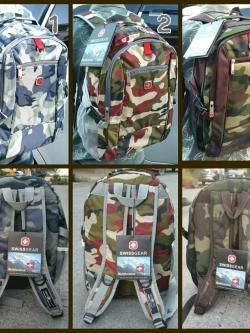 กระเป๋าเป้ SWISS GEAR SUPER DAYPACK แท้ ลายทหาร (มีช่องใส่Notebook)