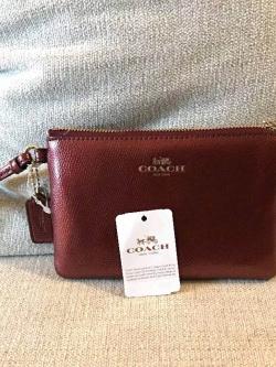 Coach Leather F54626 Corner Zip Wristlet In Crossgrain