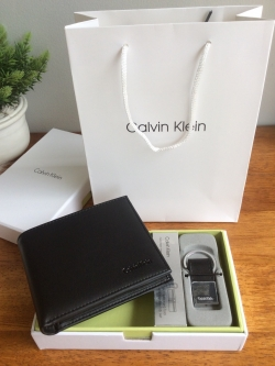 Calvin Klein Box Set For Men Wallet & Clip free ถุงกระดาษ