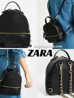 กระเป๋า ZARA CONVERTIBLE BACKPACK หนังนิ่มสวยอยู่ทรงขนาดมินิ