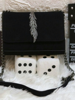 ZARA Leather Metal Detail Cross Body Bag *สินค้า outlet