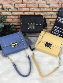 ZARA Studded Crossbody Bag free ถุงผ้า