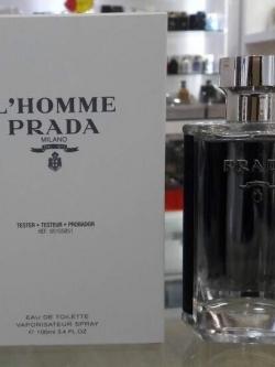 น้ำหอม PRADA L'Hommefor Men EDT 100 ml. Tester Counter brand แท้ น้ำหอม Tester