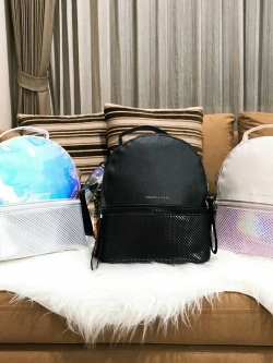 CHARLES & KEITH Mesh Backpack 2018 free ถุงผ้า * สินค้า outlet