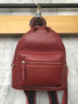 กระเป๋าเป้ Keep Leather Bag Mini Backpack Burgundy ราคา 1,890 บาท Free Ems