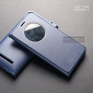 เคส Zenfone 5 เคสฝาพับบางพิเศษ ลายหนัง สีกรมท่า