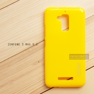 """เคส Zenfone 3 Max ZC520TL (5.2"""" นิ้ว) เคสนิ่มผิวเงา (MY COLORS) สีเหลือง"""
