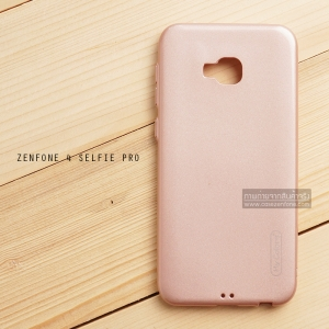 เคส Zenfone 4 Selfie Pro (ZD552KL) เคสนิ่มผิวเงา (MY COLORS) สีโรสโกลด์