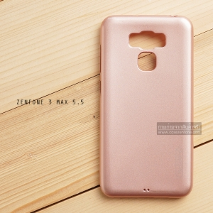 """เคส Zenfone 3 Max 5.5"""" (ZC553KL) เคสนิ่มผิวเงา (MY COLORS) สีโรสโกลด์"""