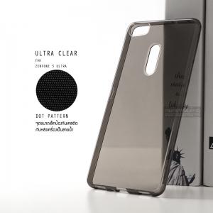 เคส Zenfone 3 Ultra (ZU680KL) เคสนิ่ม ULTRA CLEAR พร้อมจุดขนาดเล็กป้องกันเคสติดกับตัวเครื่อง สีดำใส