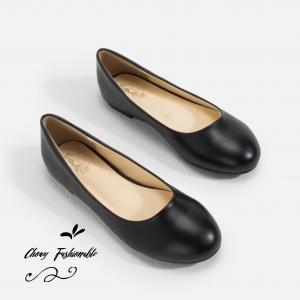 รองเท้าส้นแบนไซส์ใหญ่ 39-42 Flat Black Matte รุ่น CH0138