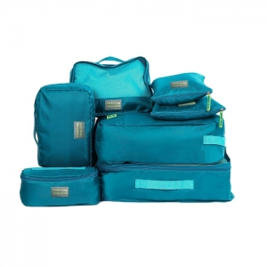 ชุดจัดกระเป๋าเดินทาง 7 ใบ จัดกระเป๋าเดินทาง ท่องเที่ยว ใส่เสื้อผ้า ชุดชั้นใน อุปกรณ์ห้องน้ำ กางเกงใน รองเท้า ถุงเท้า เครื่องสำอาง อุปกรณ์ไอที (Green)