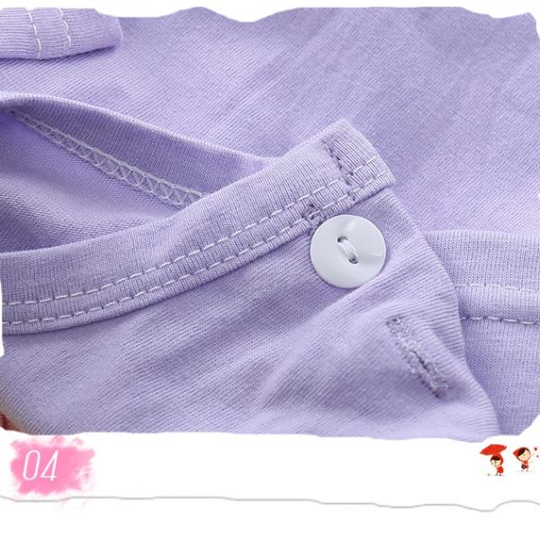 รูปภาพสินค้า เสื้อยืดเด็กเล็ก Sweet Candy มีกระดุมข้างคอ สำหรับเด็กวัย 1-2 ปี