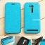 """เคส Zenfone GO TV 5.5"""" (ZB551KL) เคสหนัง + แผ่นเหล็กป้องกันตัวเครื่อง (บางพิเศษ) สีฟ้า thumbnail 1"""