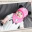 AP209••เซตหมวก+ผ้ากันเปื้อน•• / แพนด้า [สีชมพูอ่อน] thumbnail 1