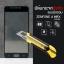 """(มีกรอบ) กระจกนิรภัย-กันรอยแบบพิเศษ (Zenfone 4 Max 5.2"""" / ZC520KL) ความทนทานระดับ 9H สีดำ thumbnail 1"""