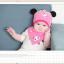 AP209••เซตหมวก+ผ้ากันเปื้อน•• / แพนด้า [สีชมพูอ่อน] thumbnail 2